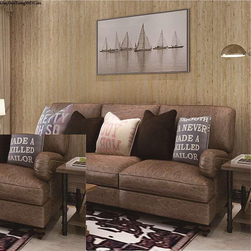 Trang trí không gian phòng bằng mẫu giấy dán tường màu nâu cho người mệnh Mộc