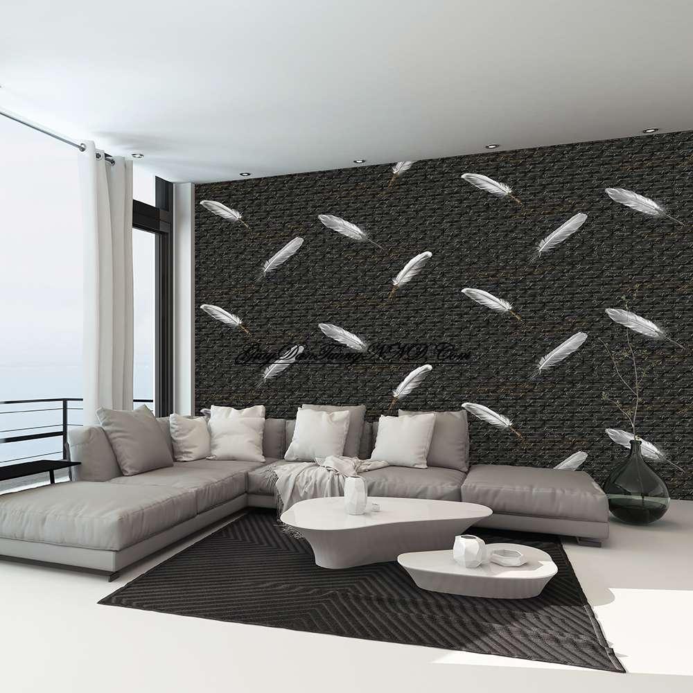 Trang trí không gian người mệnh Thủy bằng mẫu giấy dán tường màu đen
