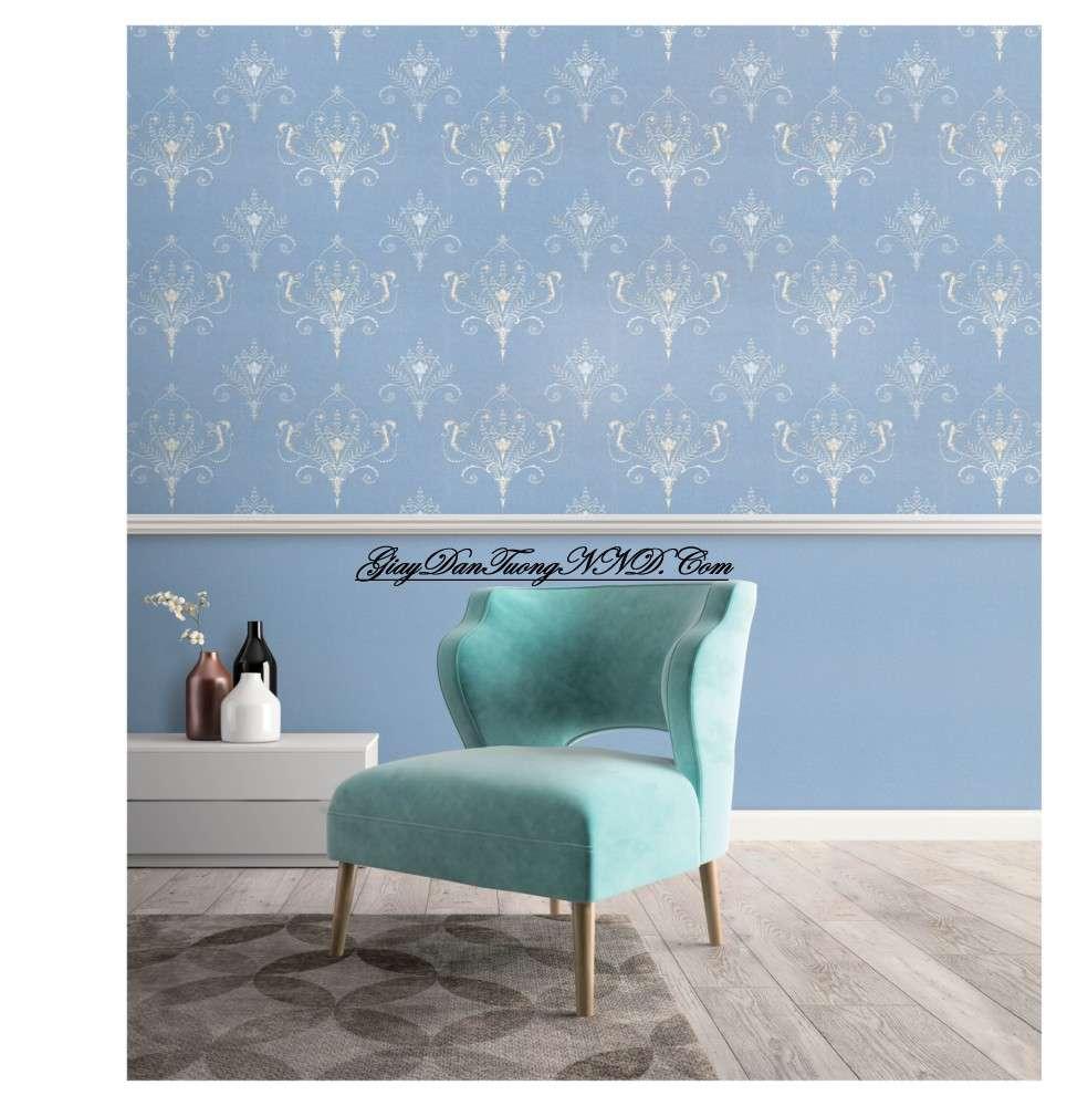 Giấy dán tường màu xanh dương cho người mệnh Thủy