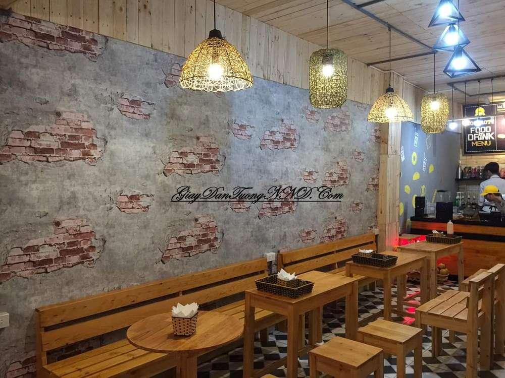 Giấy dán tường cho quán cafe
