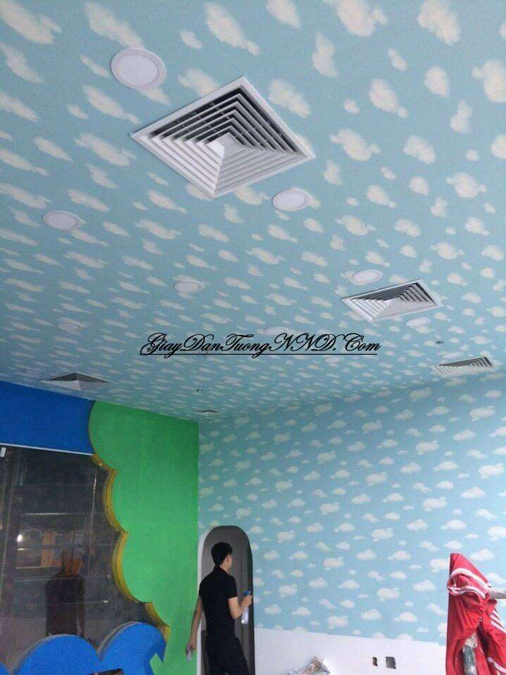 Mẫu giấy dán tường cho trần nhà đẹp